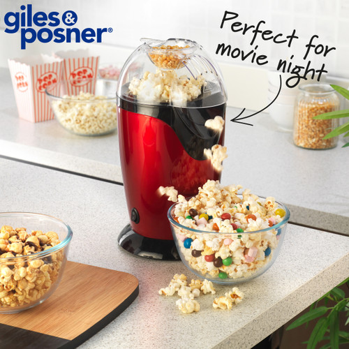 Giles & Posner Popcorn Retro Maker Machine with Measuring Cup