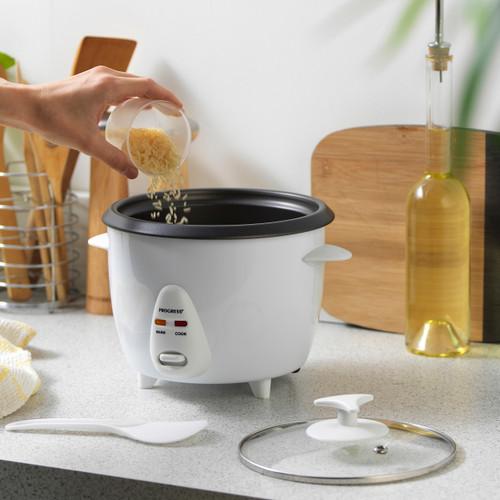 Progress® 1L Rice Cooker, Removable Non-Stick Bowl & Glass Lid