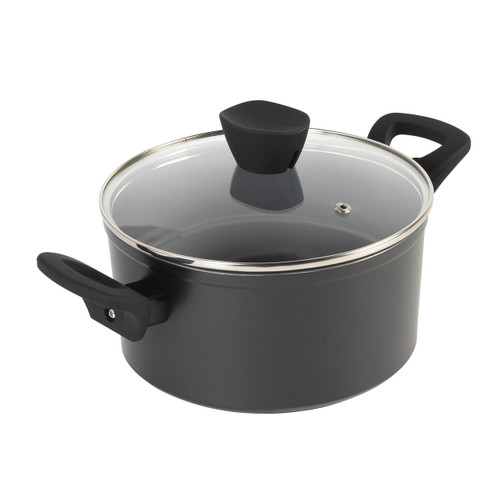 Russell Hobbs® Pearlised Forged Aluminium Stock Pot With Lid, 20cm