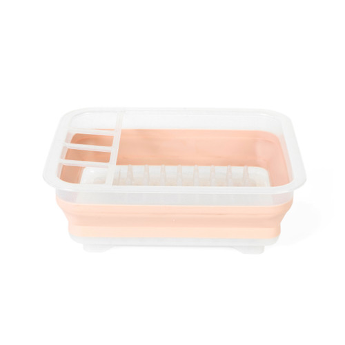 Beldray® Glisten Glitter Pink Collapsible Dish Drainer