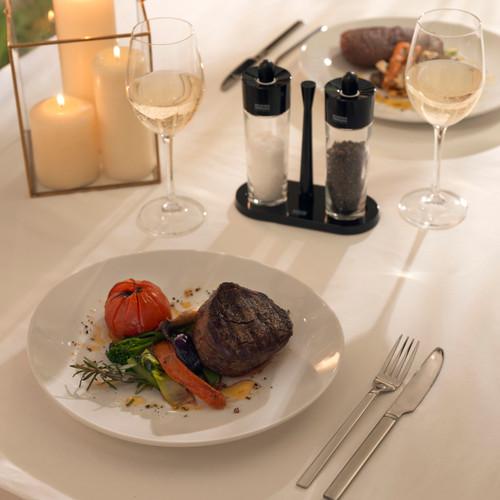 Kuhn Rikon Set of 2 Steak Dinner Plates 30cm, Large Dining/Serving Plates