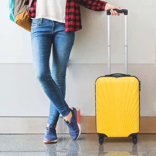 Constellation® 28 Inch Yellow Arc ABS Suitcase