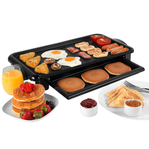 Salter® Family Non-Stick Health Grill   Grill & Griddle in One  Black