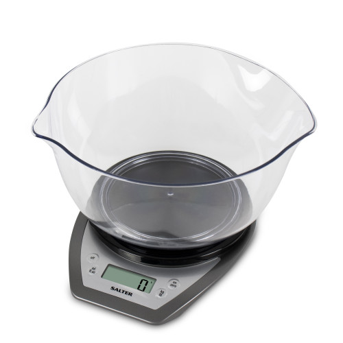 Salter Electronic Kitchen Scale with Dual Pour Mixing Bowl