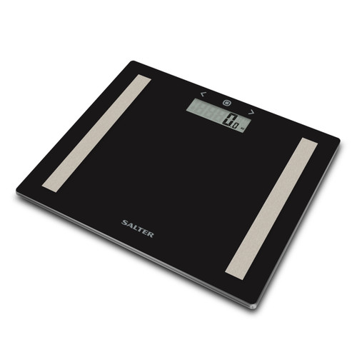 Salter Compact Glass Analyser Bathroom Scales - Black