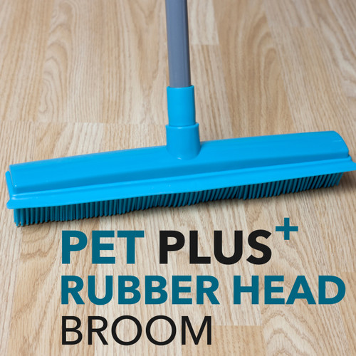 Beldray Rubber Head Brush, Turquoise, Extendable Microfibre Duster