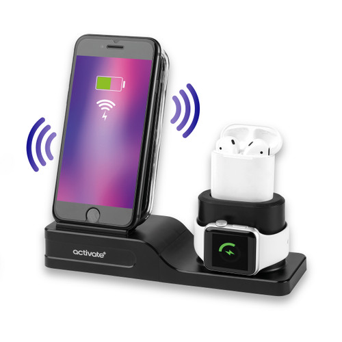 Activate 3 in 1 Wireless Charging Station-Phones, iWatch, Air Pods