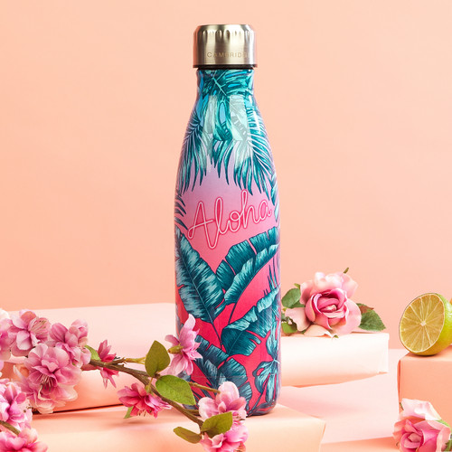 Cambridge Aloha Palm Beach Thermal Insulated Flask Bottle, 500 ml, Stainless Steel