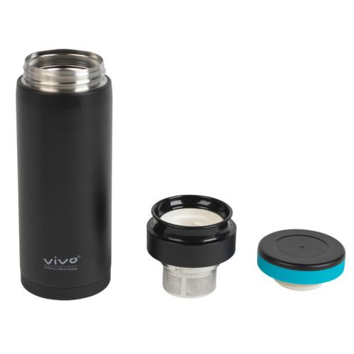 Vivo by Villeroy & Boch Group Thermal, Insulated Drinking Bottle with Tea Infuser, 350 ml, Stainless Steel