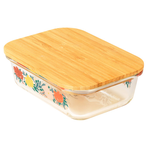 Cambridge Elodie Glass Lunch Box with Bamboo Lid