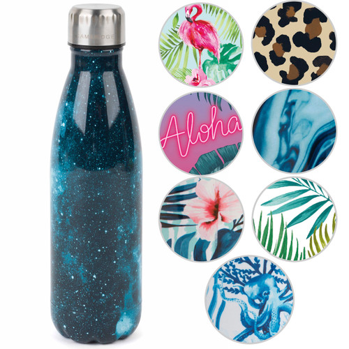 Cambridge Cosmos Print Thermal Insulated Flask Bottle, 500 ml, Stainless Steel