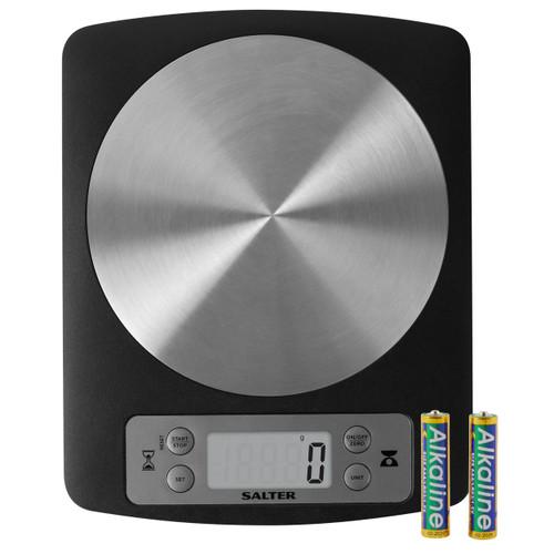Salter Digital Disc Kitchen Scales - Black
