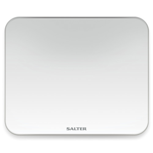 Salter Ghost Digital Bathroom Scale, Instant Weight Reading, LED Display, Toughened Glass Platform, White