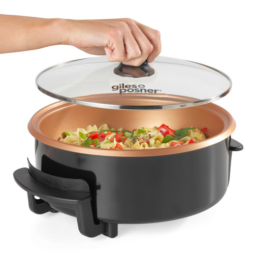 Giles & Posner® Multi Meal Maker Electric Pan with 5 Heat Settings 32cm | Black