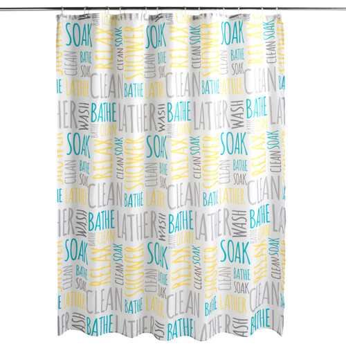 Beldray® Patterned Bathroom Shower Curtain Water Repellent 180x180cm
