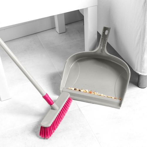 Kleeneze® Telescopic Dustpan and Broom Set with Extendable Handle