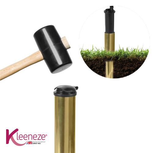 Kleeneze® 40cm Heavy Duty Metal Ground Spike & Waterproof Safe Cover