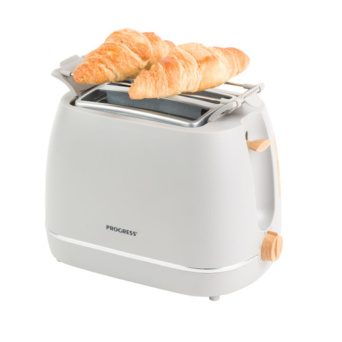 Progress® Scandi 2-Slice Toaster with Warming Rack | Grey