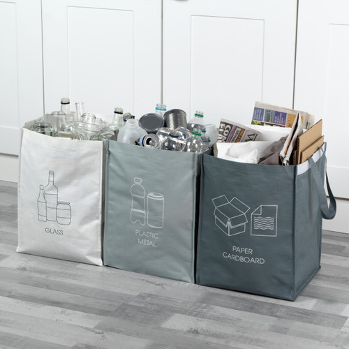 Beldray® Recycling Bags for Cardboard/Paper, Metal/Plastic and Glass