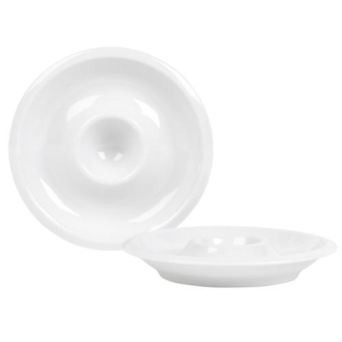 Kahla Boiled Egg Plates, Set of 2, Dishwasher and Microwave Safe