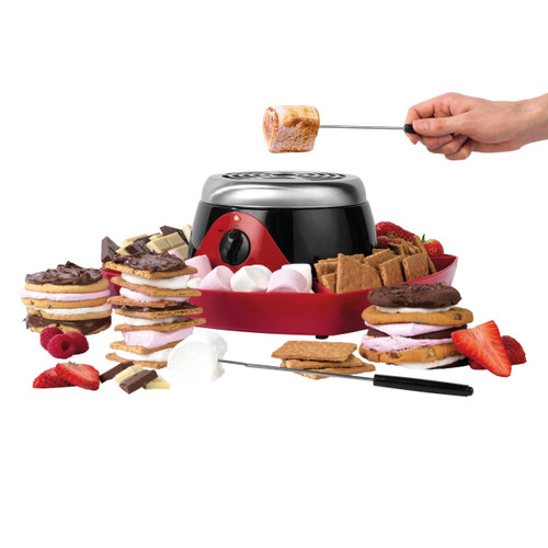 Giles & Posner Smores Maker with 2 Temperature Settings | Red