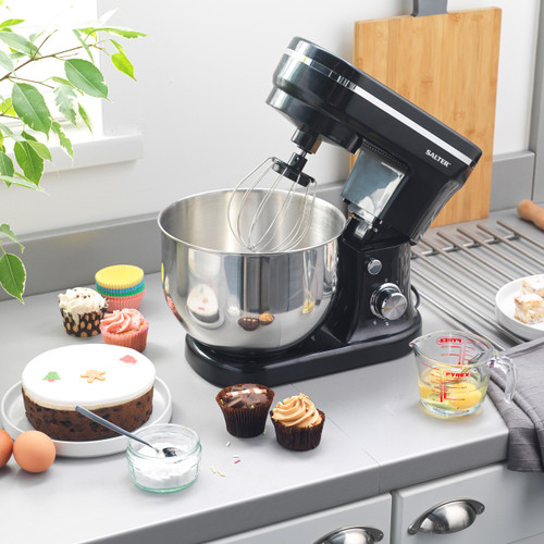 Salter® Stand Mixer with 6 Speed Settings   Stainless Steel