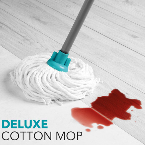 Beldray Absorbent Round Cotton Mop with Refill  Turquoise