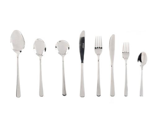 Russell Hobbs Madrid 44 Piece Cutlery Set, Stainless Steel