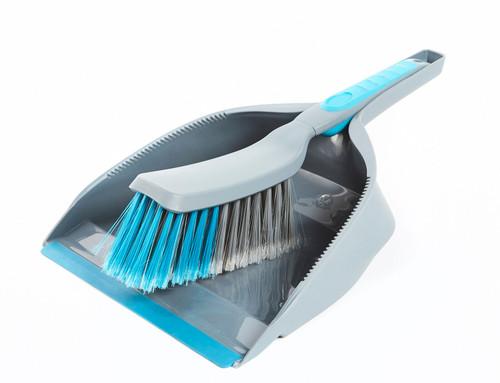 Beldray Kitchen Dustpan and Brush   Grey / Blue