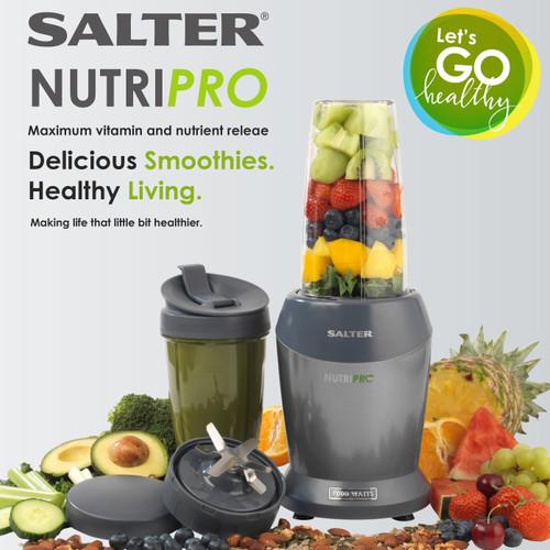 Salter NutriPro 1000 Multi-Purpose Blender with Blending Cups (EK2002V4SILVER)
