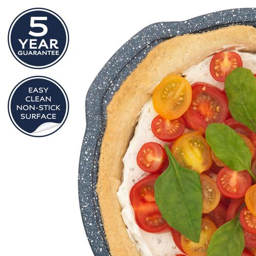 Russell Hobbs Nightfall Stone Round Pan, 26 cm   Blue Marble