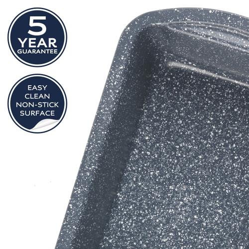 Russell Hobbs Nightfall Stone Loaf Pan, 28 cm   Blue Marble