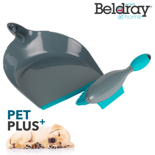 Beldray® Pet Plus+ Rubber Dustpan with Brush Set   Compact Design
