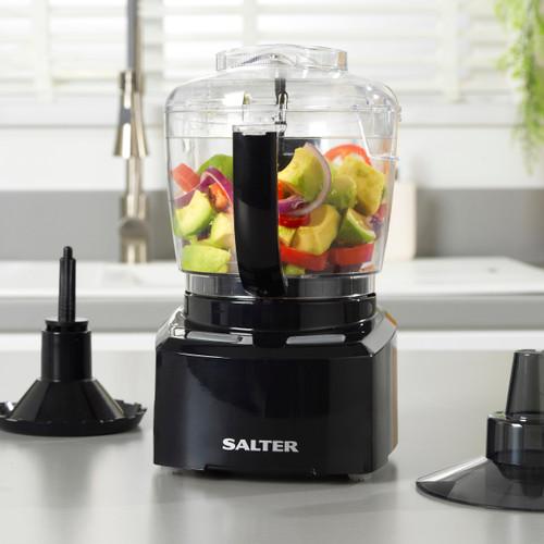 Salter® 8 in 1 Compact Prep Pro Mini Chopper Food Processor 1L Grater
