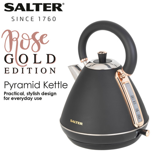 Salter® Rose Gold Electric Pyramid Kettle | 1.7 L