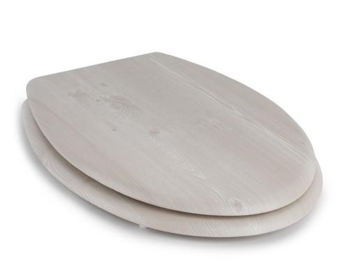 Beldray PVC Veneer Toilet Seat, 18 inch   White Oak Finish