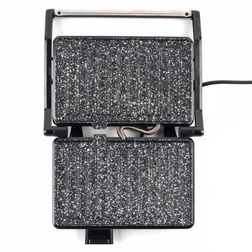 Salter Megastone 2-in-1 Black Fold-Out Health Grill Panini Maker