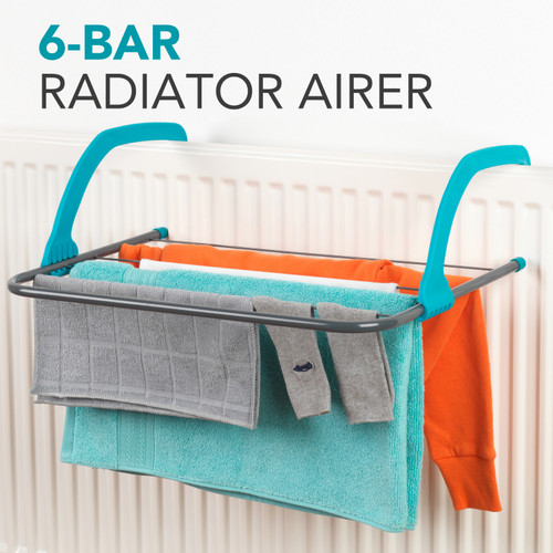 Beldray® 6-Bar Radiator Attachable Airer for Hand Towels or Clothes