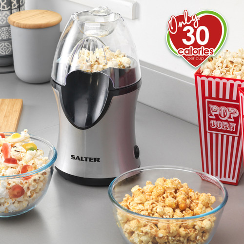 Salter® Electric Hot Air Popcorn Maker for Healthier Snacks