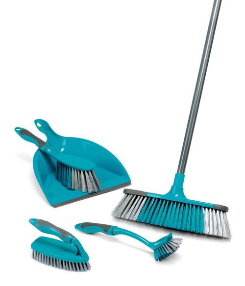 Beldray® 5 PC Broom, Dustpan/Brush, Scrubbing Brush & Dish Brush Set