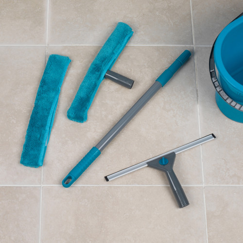 Beldray  5 Piece Microfibre Large Window Cleaning Set |Turquoise