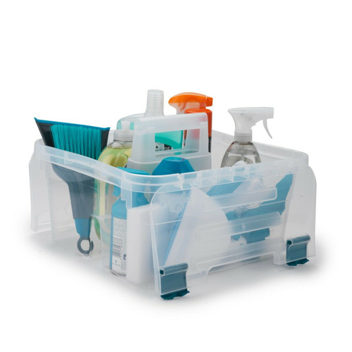 Beldray Small DIY, Hobby, Cleaning Caddy with Lid |Clear