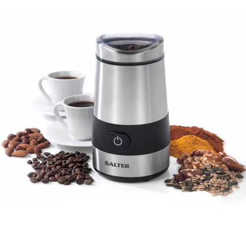 Salter Electric Coffee and Spice Grinder, 60 g Stainless Steel