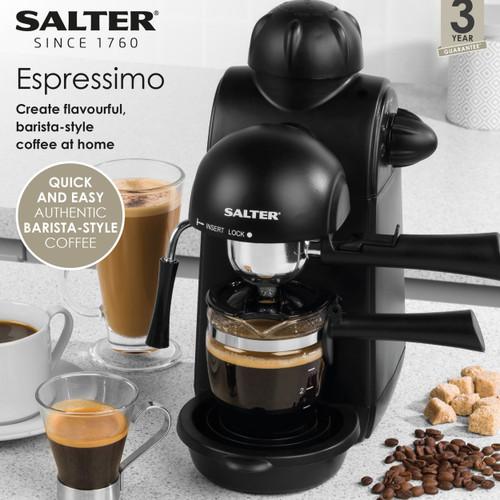 Salter® Espressimo Barista Style Espresso Maker Coffee Machine