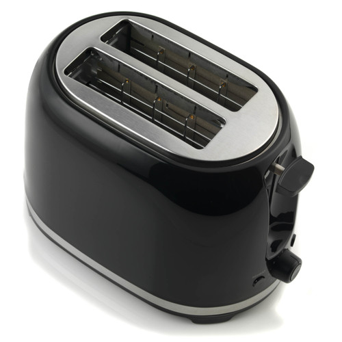 Salter Deco Collection 2 Slice Toaster, Black / Stainless Steel