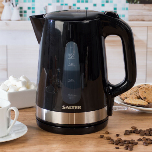 Salter Deco Collection Kitchen 1.7L Kettle | Black/Stainless Steel