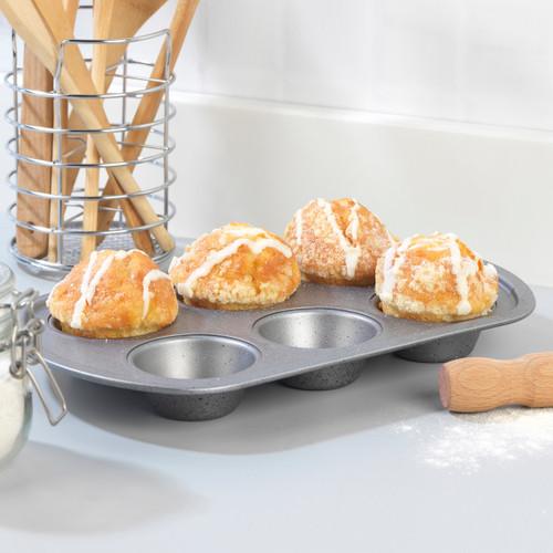Progress® Non-Stick Metallic Marble 6 Cup Muffin Tray