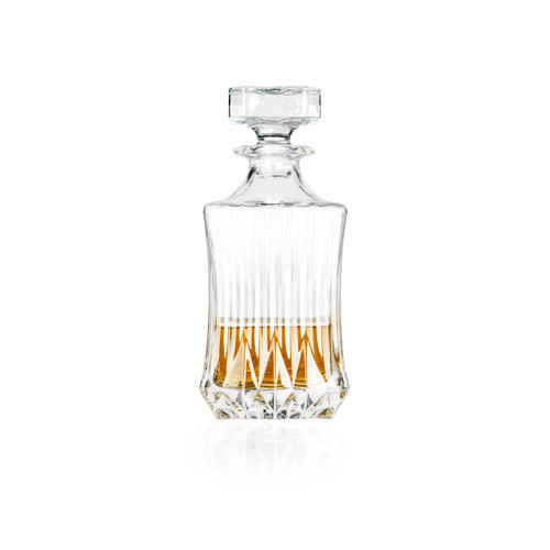 RCR Adagio Luxion Crystal Whisky/Wine Square Decanter