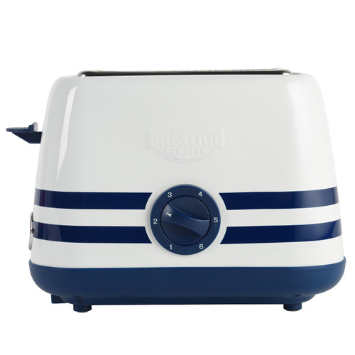 Prestige 2 Slice Toaster with Removable Crumb Tray, Vintage Blue