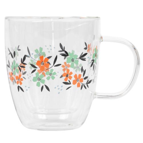 Cambridge® Francie Borosilicate Glass Mug with Handle, 300 ml
